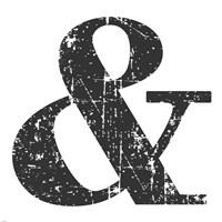Black Ampersand Framed Print