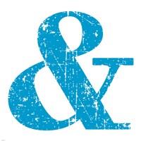 Blue Ampersand Framed Print