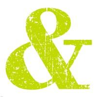 Lime Ampersand Framed Print