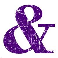 Purple Ampersand by Veruca Salt - various sizes