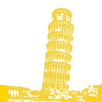 Pisa in Yellow Fine Art Print
