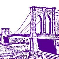 Purple Brooklyn Bridge Framed Print