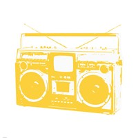 Yellow Boom Box Fine Art Print