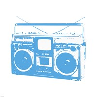 Blue Boom Box Fine Art Print