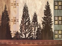 Pine Trees Lodge II Fine Art Print