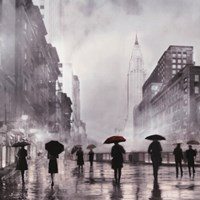 New York Red Umbrella Fine Art Print