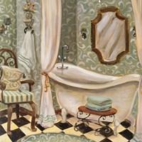 Designer Bath I Framed Print