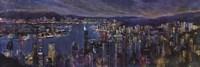 """Jeweled City by Georgie - 36"""" x 12"""""""