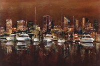 "Harbour Night by Georgie - 36"" x 24"""