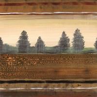 "Treescape I by Robert Holman - 6"" x 6"""