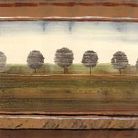 """Treescape II by Robert Holman - 6"""" x 6"""""""