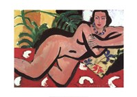 Nude With Palms, 1936 Fine Art Print