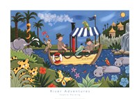 """River Adventures by Sophie Harding - 28"""" x 20"""""""