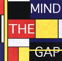"Mind The Gap by Max Carter - 24"" x 24"""