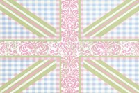 Union Jack, Blue, Green and Pink Fine Art Print