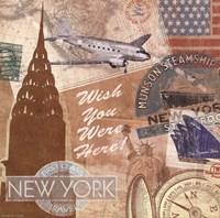 "Destination, New York by Tom Frazier - 6"" x 6"""