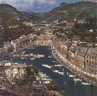 Portofino Twilight Fine Art Print