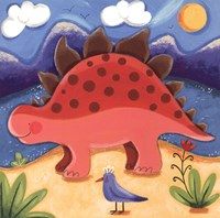 "Baby Steggy The Stegosaurus by Sophie Harding - 8"" x 8"""