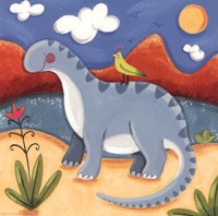 Baby Dippy The Diplodocus Fine Art Print
