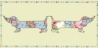 "Ditsy Dogs I by Linda Wood - 12"" x 6"" - $11.49"