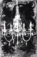 Chandelier Black and White Framed Print