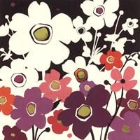 "Flower Power II by Shirley Novak - 18"" x 18"" - $13.99"