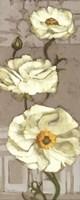Pinwheel Whites I on Gray Fine Art Print
