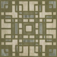 Deco Tile II Framed Print