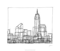 "Wire Frame Cityscape I by Ethan Harper - 26"" x 22"""