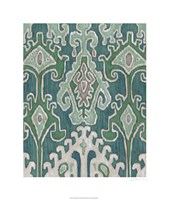 "Emerald Ikat II by Chariklia Zarris - 22"" x 26"""