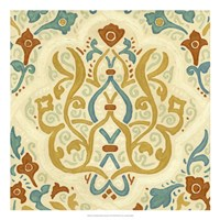 "Non-Embellished Bombay Design I by Megan Meagher - 22"" x 22"""