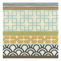 Non-Embellished Geometric Frieze III Fine Art Print