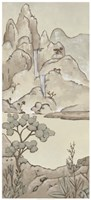 """Non-Embellished Chinoiserie Landscape II by Chariklia Zarris - 25"""" x 55"""", FulcrumGallery.com brand"""