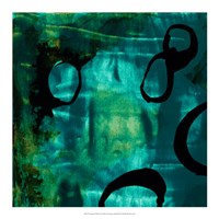 "Turquoise Element I by Sisa Jasper - 18"" x 18"""