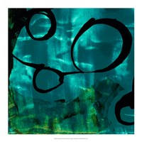 "Turquoise Element II by Sisa Jasper - 18"" x 18"""