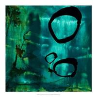 "Turquoise Element IV by Sisa Jasper - 18"" x 18"""