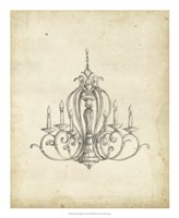 "Classical Chandelier I by Ethan Harper - 18"" x 22"""