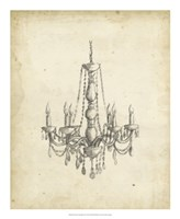 "Classical Chandelier II by Ethan Harper - 18"" x 22"""