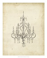 "Classical Chandelier III by Ethan Harper - 18"" x 22"""