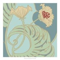 Poppy Flourish II Framed Print