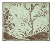 "Peaceful Garden VI by Nancy Slocum - 22"" x 18"""