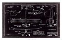 "Aeronautic Blueprint VII by Vision Studio - 31"" x 20"" - $43.99"
