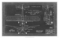 "Aeronautic Blueprint VIII by Vision Studio - 31"" x 20"" - $43.99"