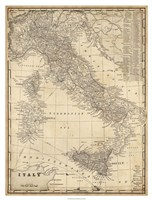 Antique Map of Italy Fine Art Print