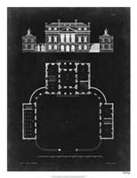 Graphic Building & Plan II Fine Art Print