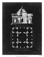 Graphic Building & Plan III Fine Art Print