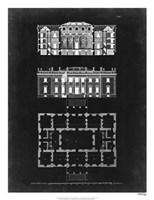 Graphic Building & Plan VI Fine Art Print