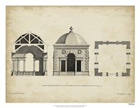 Building Section and Plan I Fine Art Print