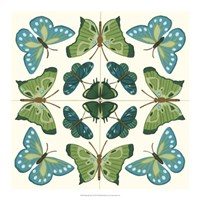 Butterfly Tile I Framed Print