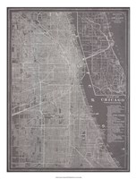 """City Map of Chicago by Vision Studio - 20"""" x 26"""""""